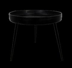 Beistelltisch Ventura - ø60 cm - schwarz - Mangoholz / Eisen