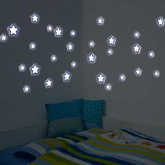 Wandsticker 3D Sterne - Glow in the Dark