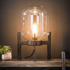 Tischlampe Glas mit Rahmen