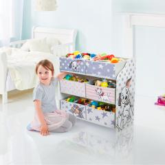 Disney Classics - Regal zur Spielzeugaufbewahrung mit sechs Kisten für Kinder