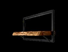 Wandregal Ebenen Live Edge - 56x32 cm - Akazie / Eisen
