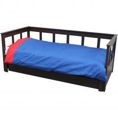 Bettbezug blau/rot