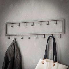 Garderobe industriell 15 Haken - Silber-Finish