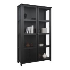 EXCELLENT SHOWCASE - Display cabinet with 2 glass doors - BLACK