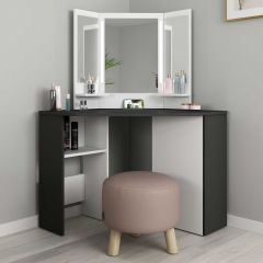 1746 Vanity Table Chic Grey Shade/ White