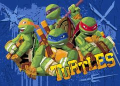 Teppich Ninja Turtles - Action