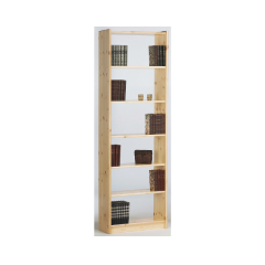 Bookcase AXEL 142 - Bookcase with 5 shelves - NATURAL LACQUER