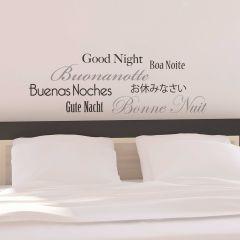Wandaufkleber Gute Nacht