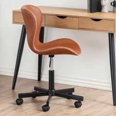 Batilda - A1 desk chair - matt black, brandy