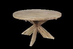 Runder Esstisch mit Schrittfuß - ø150 cm - natur - Teakholz