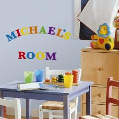 RoomMates Wandsticker - Bunte Buchstaben