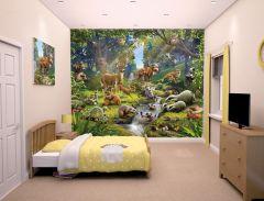 Wandbild Waldtiere