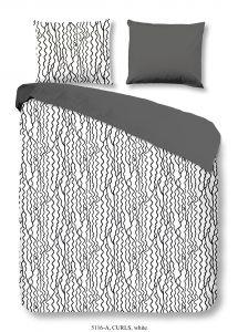 Bettwäsche Curls Weiß 200x220cm