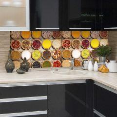 Wandaufkleber Gewürze Rückwand Küche