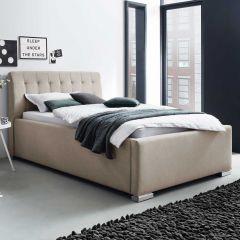 Gestoffeerd bed La Finca BK - 140x200 cm - beige