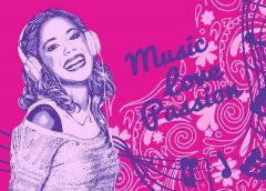 Teppich Violetta - Headphone