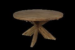 Runder Esstisch mit Schrittfuß - ø150 cm - Vintage - Teakholz