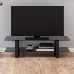 Katrine TV-table - matt black, smoke, matt black