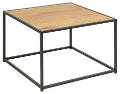 Seaford coffee table - matt black, wild oak