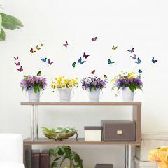 Wandaufkleber Wildblumen - Große