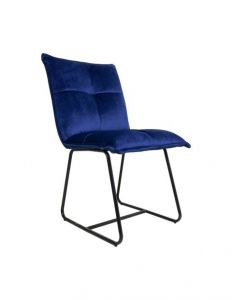 Esszimmerstuhl Estelle - Samt - dunkelblau