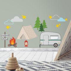 Wandaufkleber Campingplatz