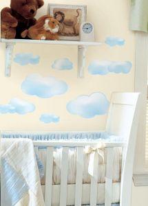 RoomMates Wandsticker - Wolken