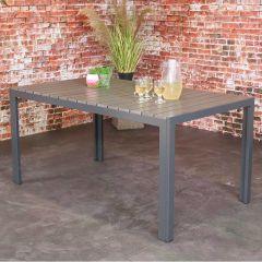 Gartentisch Jersey 160x90 - schwarz