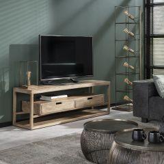 TV-möbel sahara - Massif mango Sandfarbe