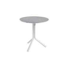 Salvador folding table 80cm alu white cer.grey Lig