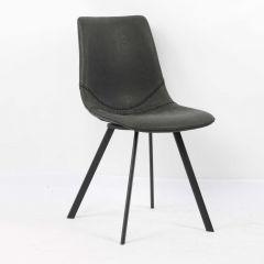 Stuhl 'Oslo' PU Schwarz - Beine schwarz - 2er-Set
