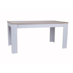 Esstisch Armando 160-200 x 90 - Eiche/Weiß