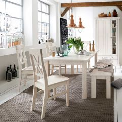 Chair MONACO 526 - Dining room chair (2-piece pack) - WHITE WASH
