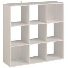 Aufbewahrungsbox Kubikkubisch mit 9 Fächern - weiß