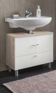 Waschbecken Unterschrank 2-trg. und 1 Klappe - Beton Melamin Dekor