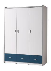 Kleiderschrank Bonny 3 Türen - blau
