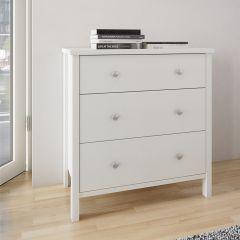 Dresser TROMSÖ 015 - Dresser with 3 drawers - WHITE