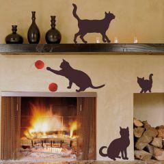 Wandaufkleber Katzen - Große Katzen