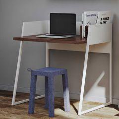 Office Volta - weiß/nussbaumfarben