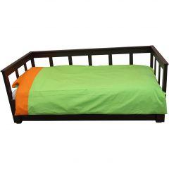 Bettbezug grün/orange