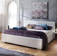 Gedempt bed Sandra Comfort - 180x200 cm - Wit