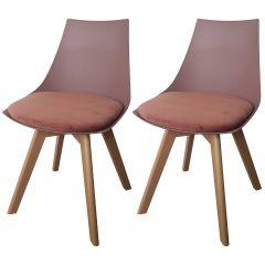 Set mit 2 Stühlen Cosmo - pink