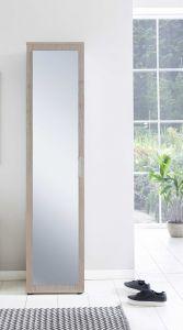 Dielen- und Allzweckschrank mit 1 Tür und Frontspiegel - Melamin Dekor Sonoma Eiche