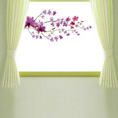 Fensteraufkleber Violetter Zweig