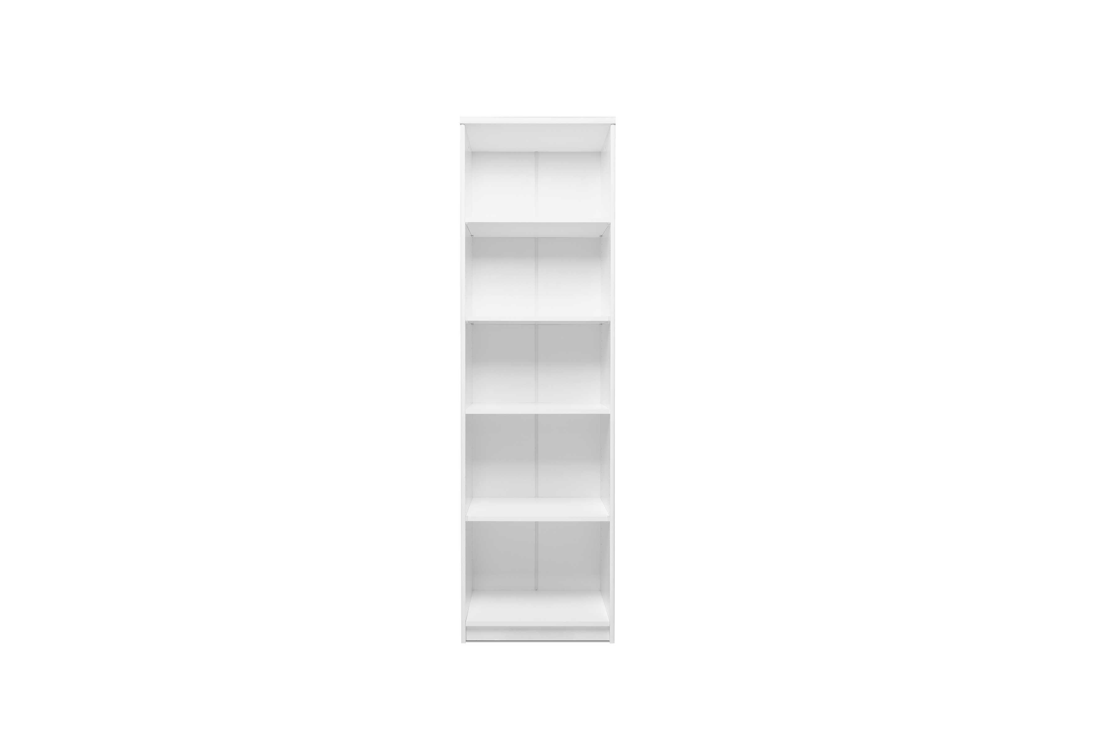 Regalbild 3 Regale & 1 Tür weiß Finori | Emob