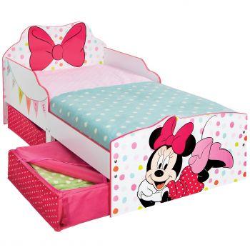 Kleinkinderbett mit Schubladen Minnie Mouse