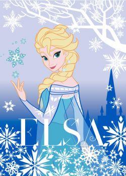 Teppich Die Eiskönigin Elsa