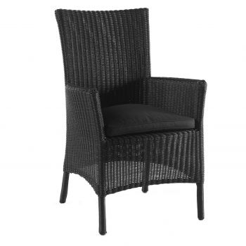 Firenze dining chair high back black  + cushion bl