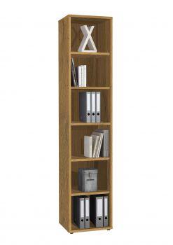 Bücherregal Spacio 72cm mit 5 Einlegeböden sonoma Eiche
