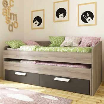 BO12 Trundle bed 2 drawers 200cm Graphite color